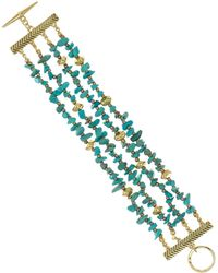 Sam Edelman - Multi-row Nugget Bracelet - Lyst