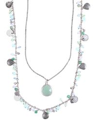 Lonna & Lilly - Silver-plated Double Strand Necklace - Lyst
