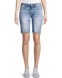 804c4feac PAIGE Jax Knee Shorts In Bloomfield (bloomfield) Shorts in Blue - Save 63%  - Lyst
