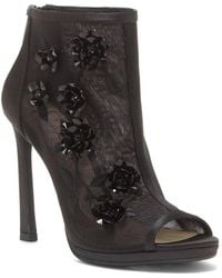 Jessica Simpson - Floral Embellished Mesh Booties - Lyst
