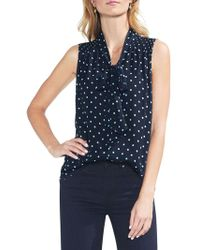 Vince Camuto - Sapphire Bloom Polka Dot Blouse - Lyst