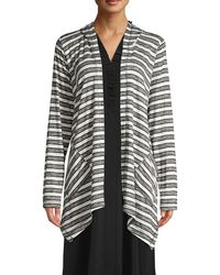Two By Vince Camuto Highland Striped Cardigan - Gray