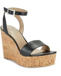 Charles David - Lilla Leather Wedge Sandals - Lyst