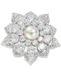 Nadri - Boxed Crystal Medallion Pin In Gift Box - Lyst
