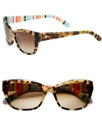 Kate Spade - 55mm Bayleigh Modified Cat Eye Sunglasses - Lyst
