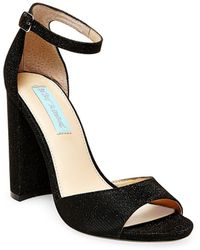 Betsey Johnson - Carly Metallic Fabric Peep Toe Court Shoes - Lyst