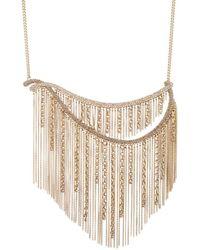 Givenchy Goldtone & Crystal Fringe Statement Necklace - Metallic