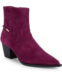 Isaac Mizrahi New York - Suede Point-toe Boots - Lyst