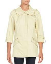 Ellen Tracy - Removable Hood Anorak Coat - Lyst