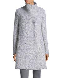 Kenneth Cole Reaction - Stand-collar Boucle Coat - Lyst