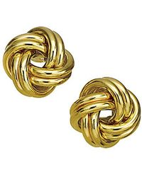 Lord + Taylor - 14k Yellow Gold Knot Earrings - Lyst