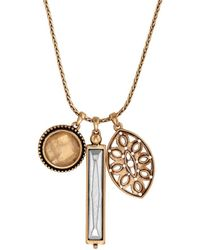Lucky Brand Heritage Holiday Two-tone Charm Necklace - Metallic