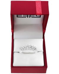 Effy Pave Classica 1 Tcw Diamond And 14k White Gold Ring - Metallic