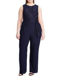 7730566e1aed Lauren by Ralph Lauren Georgette Cape Tunic Jumpsuit in Black - Save 5% -  Lyst