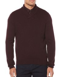Perry Ellis - Cable Shawl Pullover Cardigan - Lyst