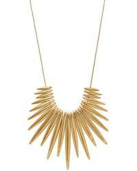 Michael Kors Matchstick Spike Statement Necklace - Metallic