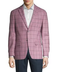 Tallia Orange - Windowpane Plaid Wool Sportcoat - Lyst