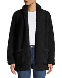 Lord & Taylor - Teddy Open Front Jacket - Lyst