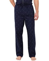 Nautica Logo Print Pyjama Pants - Blue