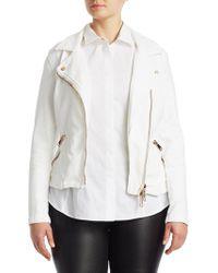 Marina Rinaldi - Camogli Denim Zipper Jacket - Lyst