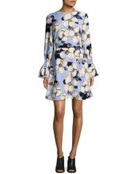 Ellen Tracy - Long-sleeve Belted Dress - Lyst