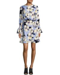 Ellen Tracy - Petite Long-sleeve Belted Dress - Lyst