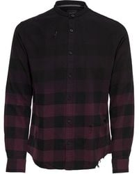 Only & Sons - Faded Checked Button-down Shirt - Lyst