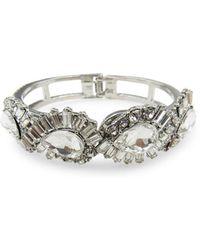 Badgley Mischka Crystal-embellished Cuff Bracelet - Metallic