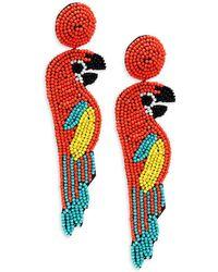 Kenneth Jay Lane Oversized Parrot Earrings - Multicolour