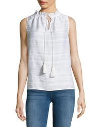 Lord & Taylor - Textured Sleeveless Top - Lyst