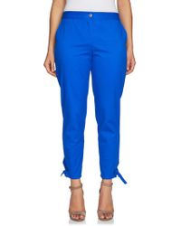 Chaus - Ankle-tie Washed Twill Trousers - Lyst
