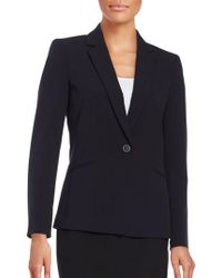 Tahari - Regular Fit Notch Lapel Blazer - Lyst