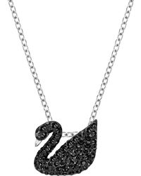 Swarovski Black Swan Crystal Pendant Necklace
