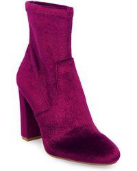 Steve Madden - Brisk Velvet Ankle Boots - Lyst