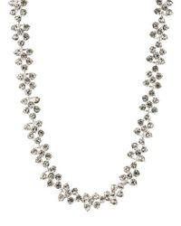 Anne Klein - Crystallized Silvertone Collar Necklace - Lyst