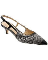 Trotters - Kimberly Leather Slingback Court Shoes - Lyst