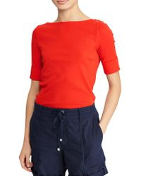 Lauren by Ralph Lauren - Petite Elbow-length Sleeve Tee - Lyst