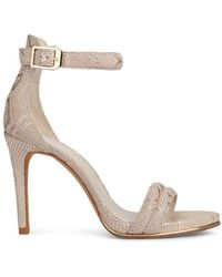 Kenneth Cole Brooke Leather Dress Sandals - Natural