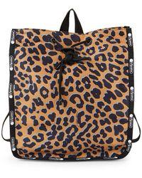 LeSportsac Nadine Leopard-print Backpack - Brown