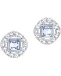 Swarovski - Angelic Square Crystal Framed Stud Earrings - Lyst
