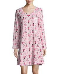 Carole Hochman - Christmas Stocking Print Cotton Night Shirt - Lyst