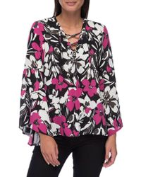 Bobeau - Dawn Flared-sleeve Blouse - Lyst