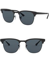 feb5bd18d18 Ray-Ban - Shiny Black 51mm Square Sunglasses - Lyst