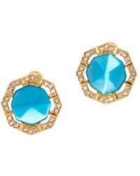 Vince Camuto Goldtone And Crystal Stud Earrings - Metallic