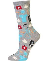 Hot Sox Medical Crew Socks - Gray