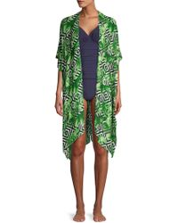 Laundry by Shelli Segal - Tropical Print Coverup - Lyst