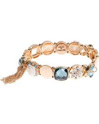 Lonna & Lilly Tassel-accented Stretch Bracelet - Blue