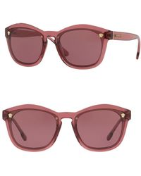 Versace - Solid 57mm Pillow Shaped Sunglasses - Lyst