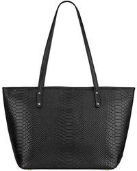 Gigi New York - Taylor Mini Python-embossed Leather Tote - Lyst