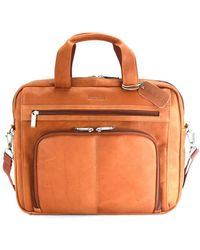 Kenneth Cole Reaction - Colombian Leather Expandable 15.4 Computer Portfolio - Lyst